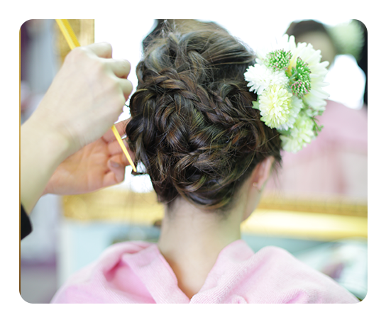 ヘアー(髪飾り付き)